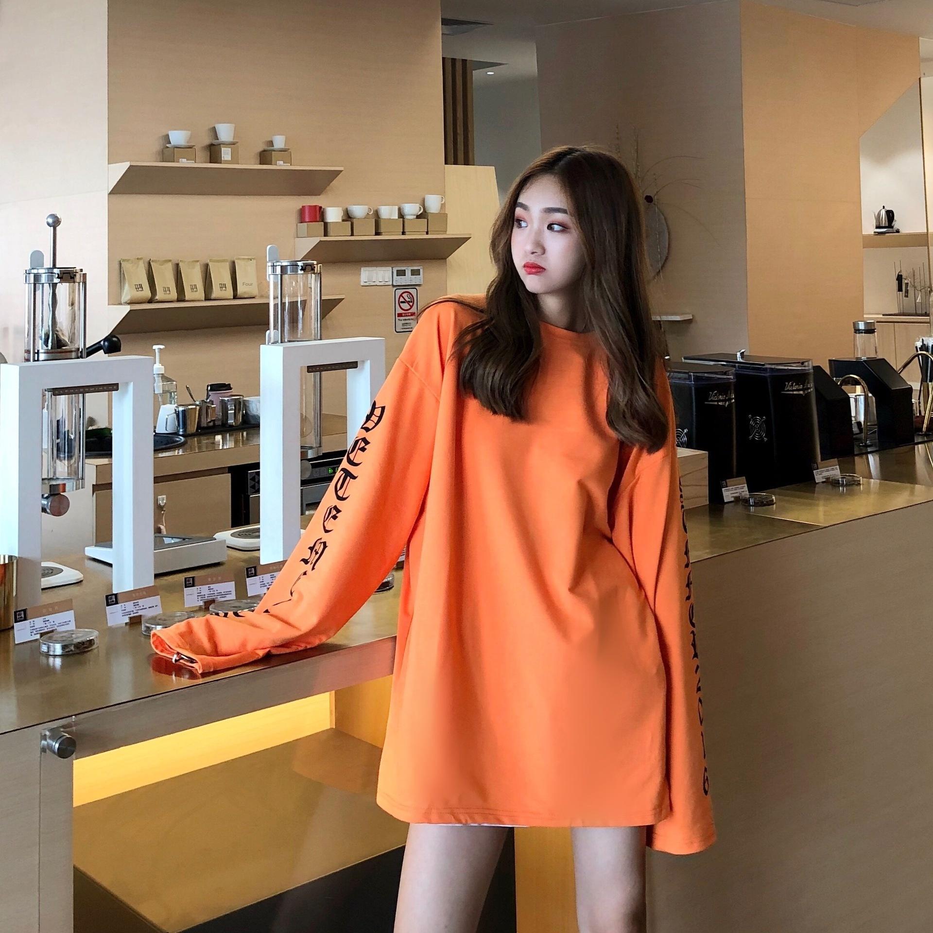 AlibJ # 7810 Automne Nouveau Pull chandail coréen pour les hommes et les femmes manches longues Bigbang tendance