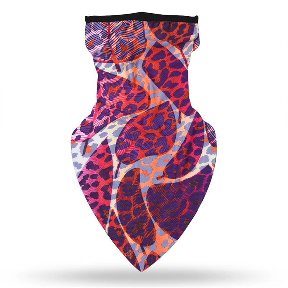 Parejas de protección bufanda de la manera triángulo de la impresión de Sun capucha Bufanda de ciclo a prueba de viento al aire libre de la bufanda de seda de hielo Diseñador hhOM1