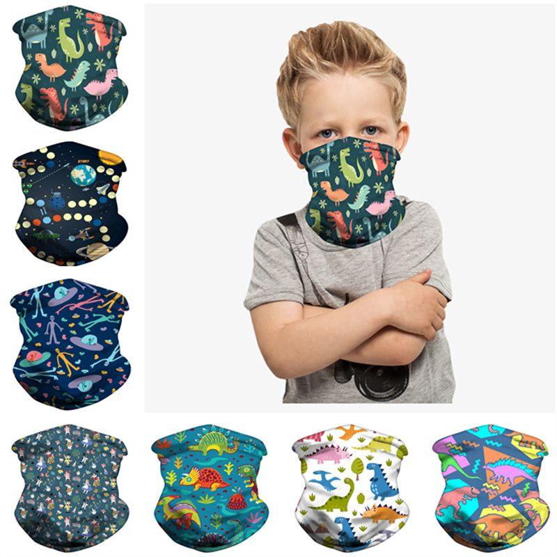 Magic Kids sciarpe di modo di stampa sciarpa Bandane bambini Buff esterna di protezione del lato dello schermo antivento Maschera Ciclismo Copricapo 2020