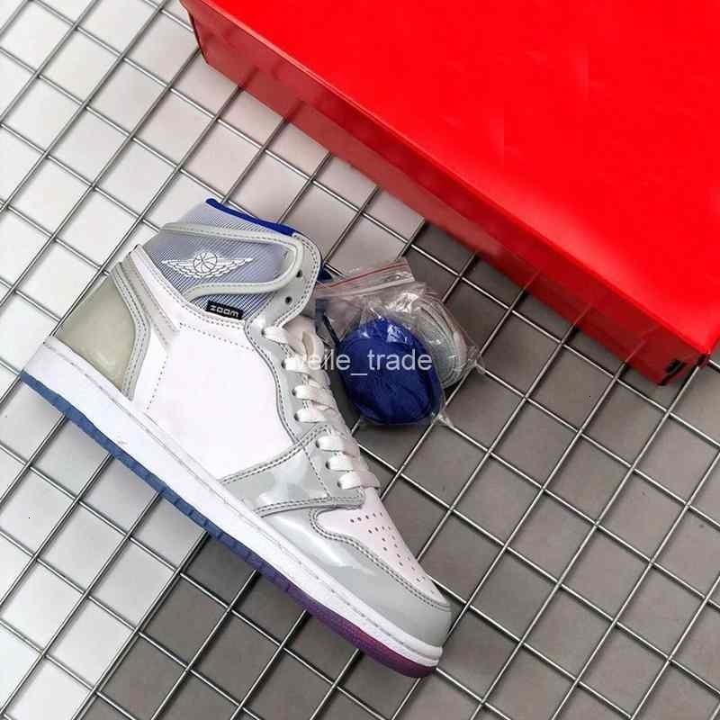 R2T alta zoom para mujer 1s Corredor Azul 2020 zapatos de baloncesto del Mens 1 I hombre blanco de plata Deportes zapatillas de deporte al aire libre unc Jumpman des chaussures
