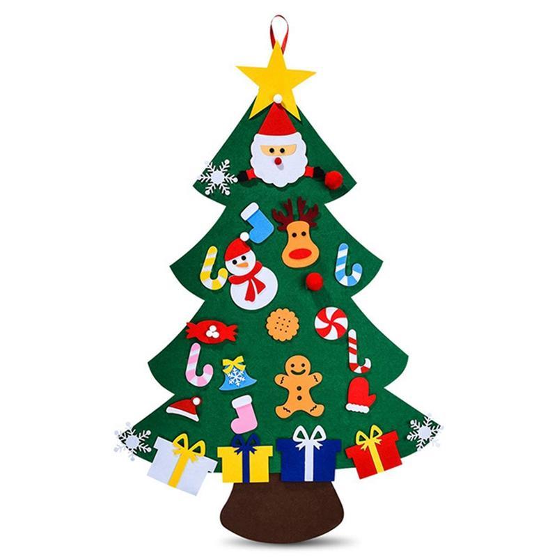 Sentiu Árvore de Natal para Crianças -3D DIY 26pcs destacável Ornamentos, Natal decorações de parede Ha