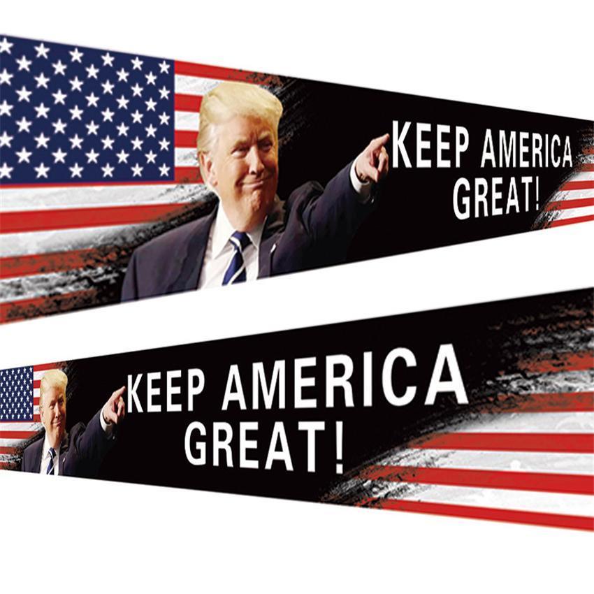 Trump Kampanyası Bayrak Trump Tren DHL Kargo LJJA971 Gemide Amerika Büyük Yine 2020 Cumhurbaşkanlığı Seçim Banner All tutun 296x48cm