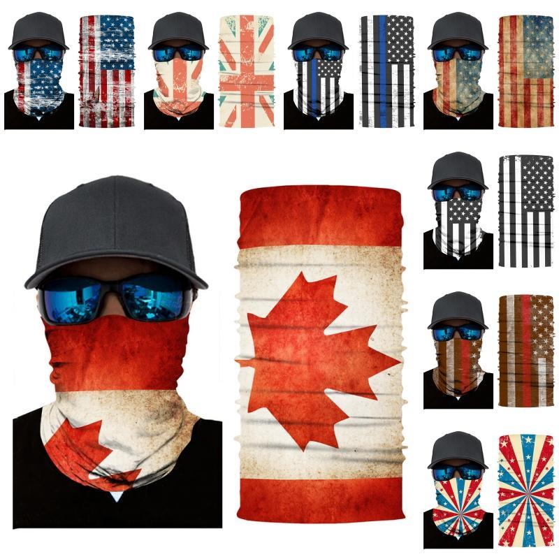 DHL 배송 국기 넥 게이터 통기성 스카프 반다나 야외 사이클링 남성 여성 B181F에 대한 방풍 원활한 얼굴 커버 마스크