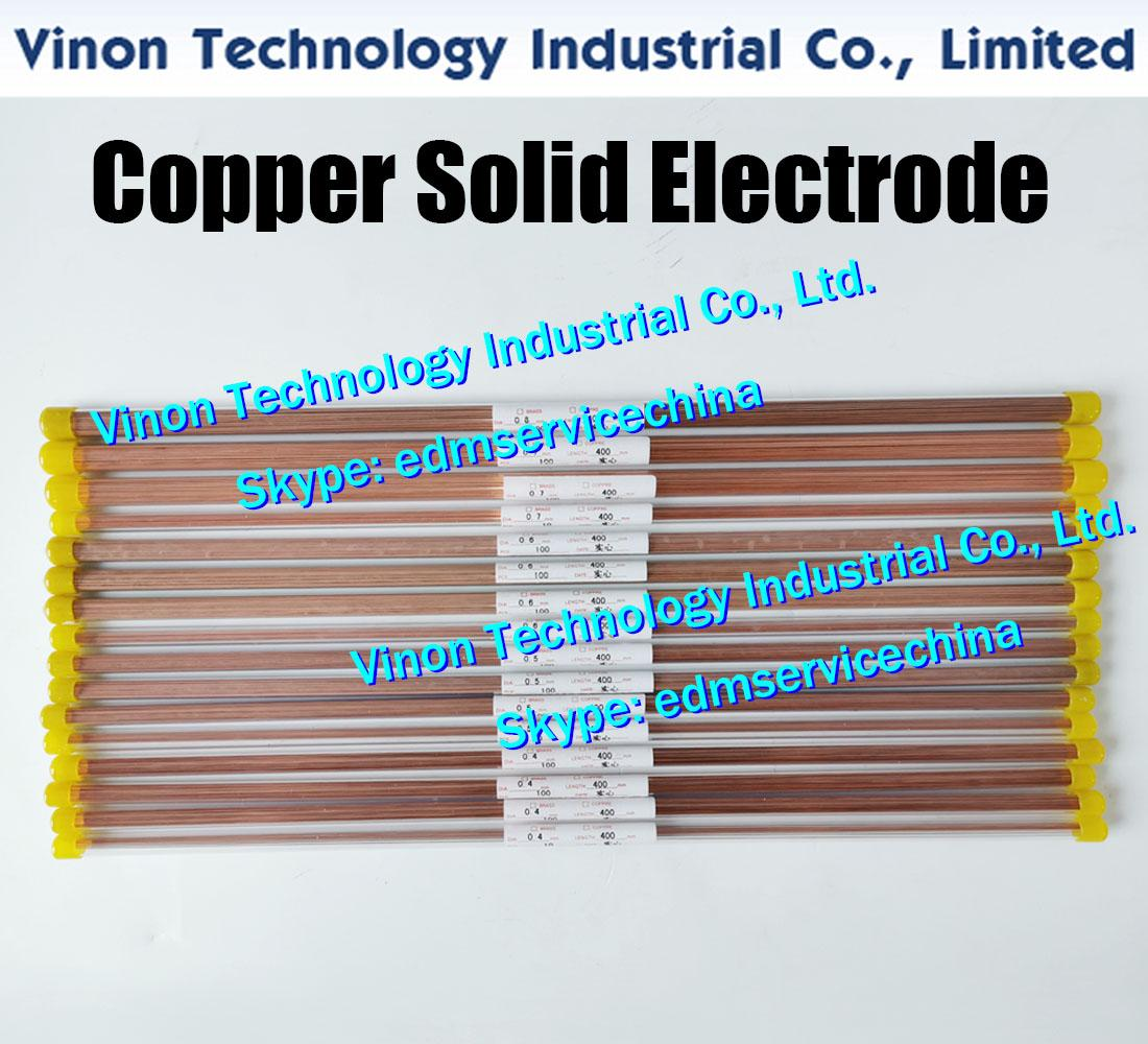 0.9x400MM 구리 고체 전극 (200PCS / 많은), 솔리드 구리로드 EDM 전극 직경 0.9 mm, 길이 400mm 전기 방전 가공에 사용