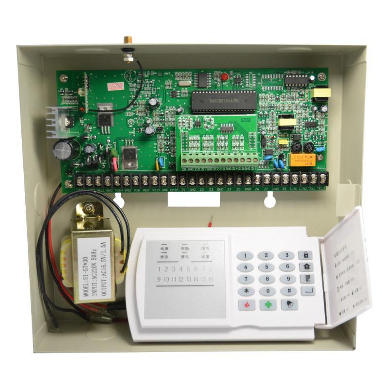 Alarm Sistemleri Fabrika Satış Metal Kutusu Güvenlik Ev PSTN Sistemi 8/16 Kablolu ve 16 Kablosuz Bölgeler Duman Dedektörüne Bağlantı PIR Hareket Algılama