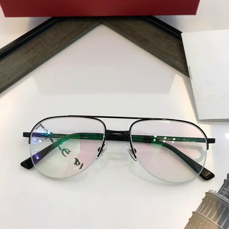 2020 El nuevo diseñador de peso ligero CT0341 piloto de media llanta conjunto completo de OEM caso de salida óptica unisex marco de los vidrios de los vidrios de 54-18-145 para la prescripción