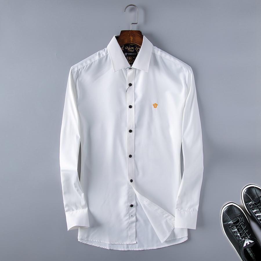 As camisas dos homens Moda Negócios camisa Harajuku Casual camisa dos homens de luxo Medusa alta qualidade tecido 3d-Impresso Magro shirt r894654s89w6