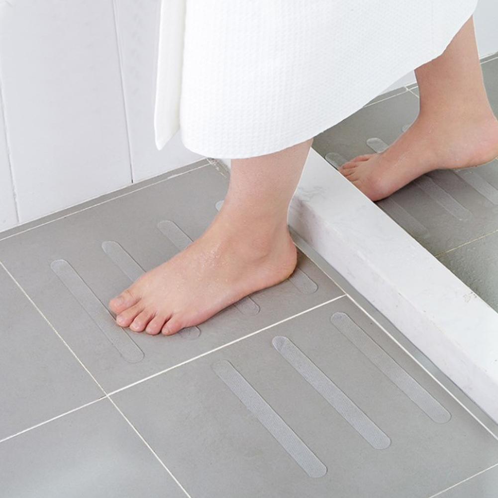 5Pcs Piano Anti Slip Sticker nastro impermeabile Scale bagno privato servizi igienici trasparente