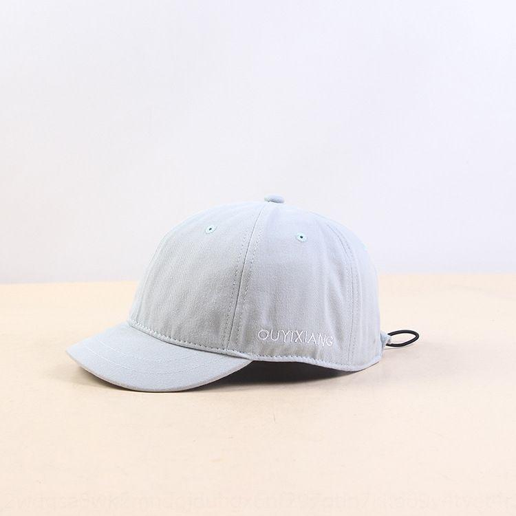 Corea del estilo de moda ocasionales capota pequeño borde corto borde casquillo cortos ala del sombrero negro de los hombres gorra de béisbol de béisbol para las mujeres