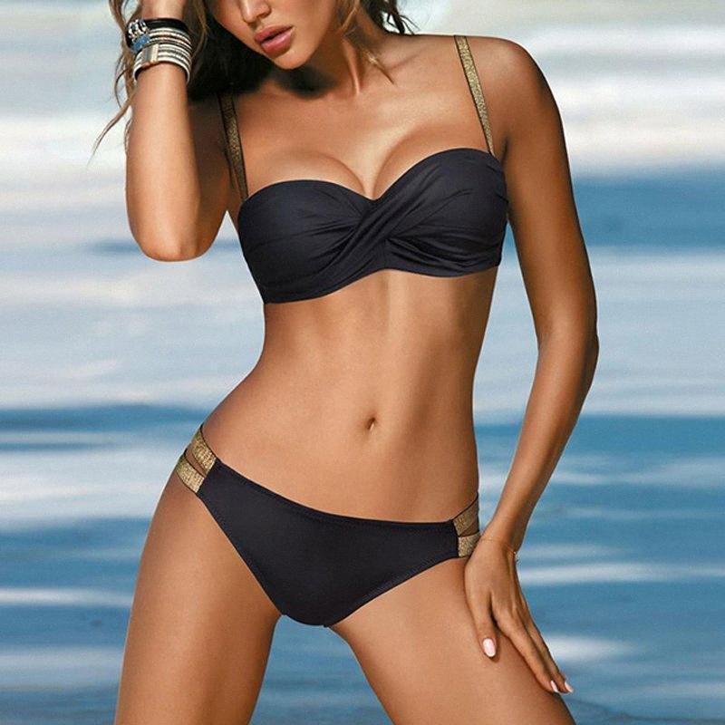 2020 Costume Swimsuit 2020 Branco Micro Bikinis Bikini Set Womens Brasileiro Sexo Swim Swimwear Feminino Sólidos Thong Bikinis Preto r9J5 #