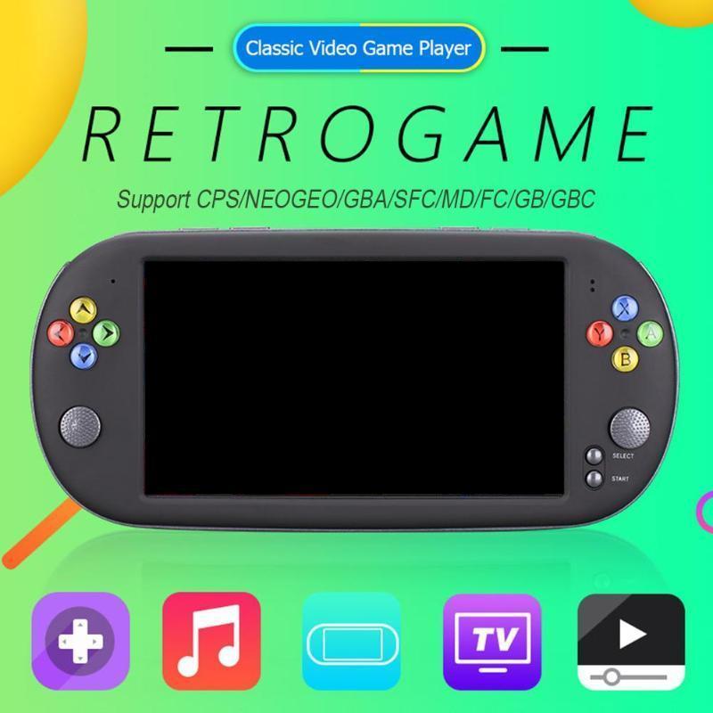 cgjxs X16 7 polegadas jogo console portátil portátil 8GB clássico Jogo Video Player Para Neogeo Arcade Handheld Game Players DHL livre