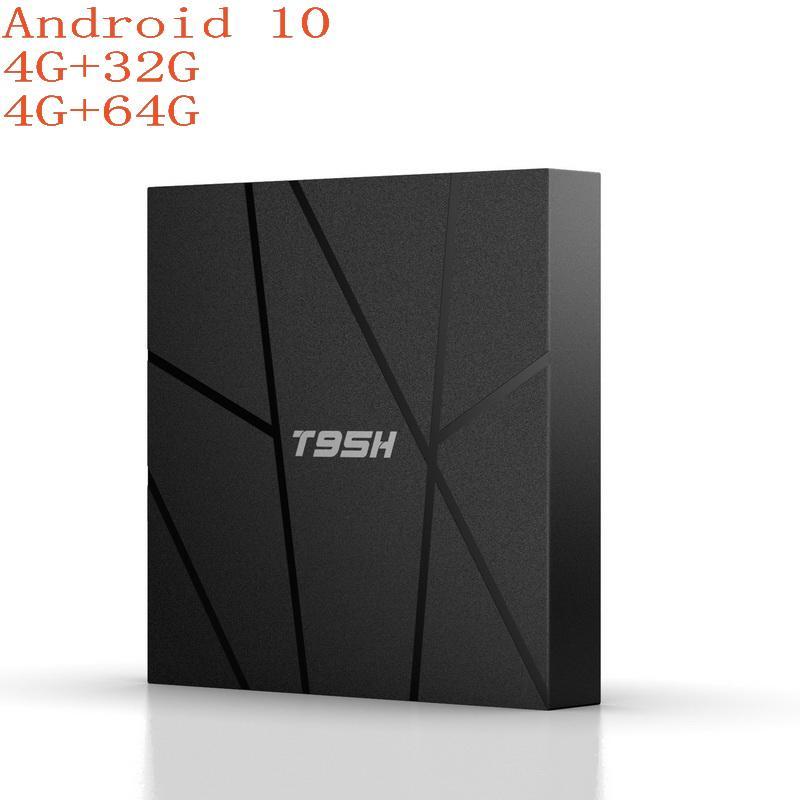 T95H Smart Android 10.0 TV Box 4GB RAM 32GB 64GB ROM Allwinnner H6 2.4G wifi 4K HD Set Top Box