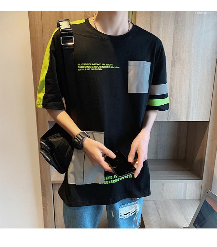 Designer magliette O-Collo Maniche corte 3M Reflective Tops adolescenti allentato Moda Tees uomo Abbigliamento Estate Mens