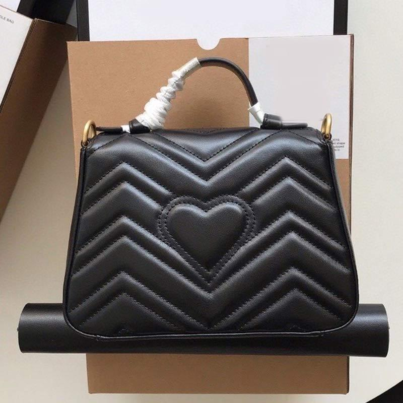 Fashion Love Heart Wave Pattern Handbags Satchel Real Leather Quilted Shoulder Bag Adjustable Strap Crossbody Purse Women Tote Bags Flap Bag