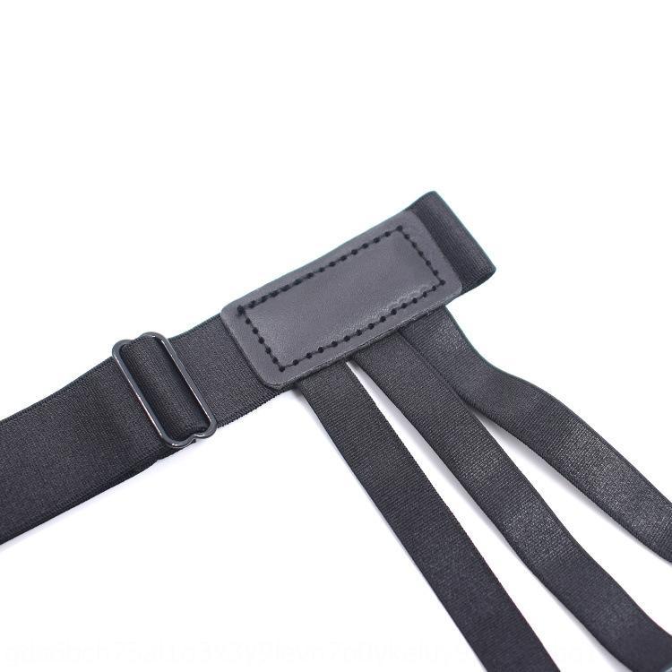 Men's shirt anti-wrinkle leg ring garter Shirt suspender socks suspender socks belt nylon material garter belt YFSBlack