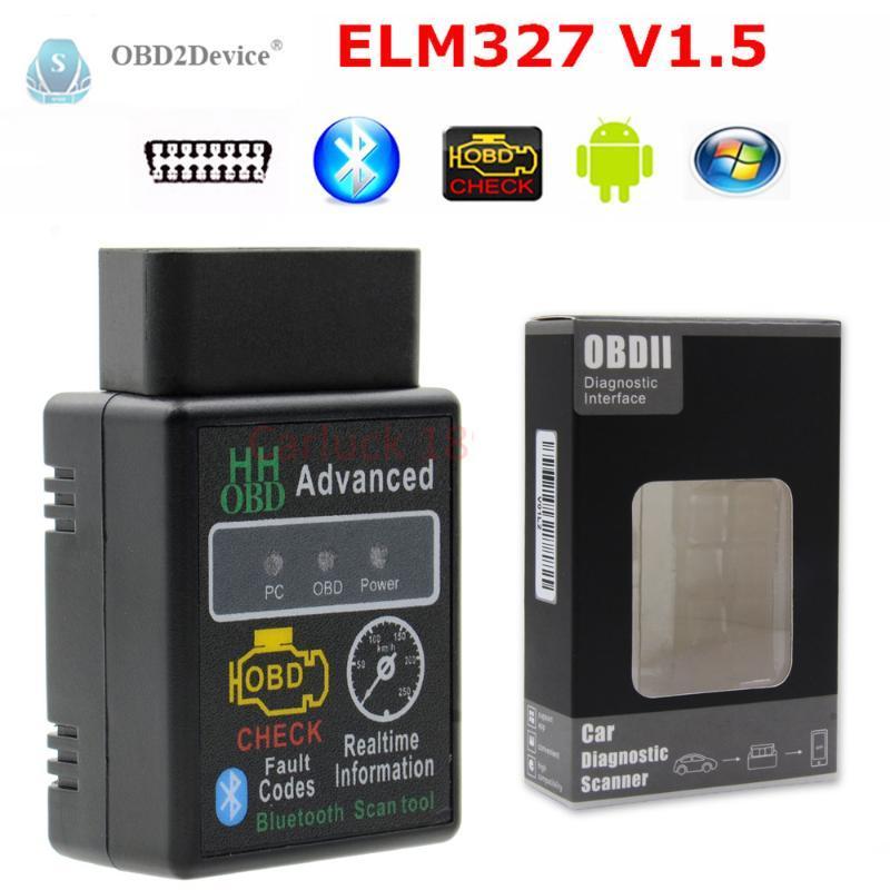 2020 Best Super HH ELM 327 bluetooth v1.5 OBD2 Scanner mini elm327 Bluetooth Smart Car Diagnostic Interface ELM 327 V2.1