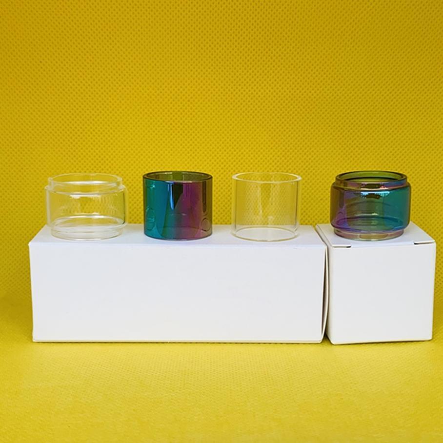 Tube de verre pour Tube d'ampoule RAINBOW CLEAR ADVKEN MANTA RTA avec paquet de détail 1/3 / 10pcs