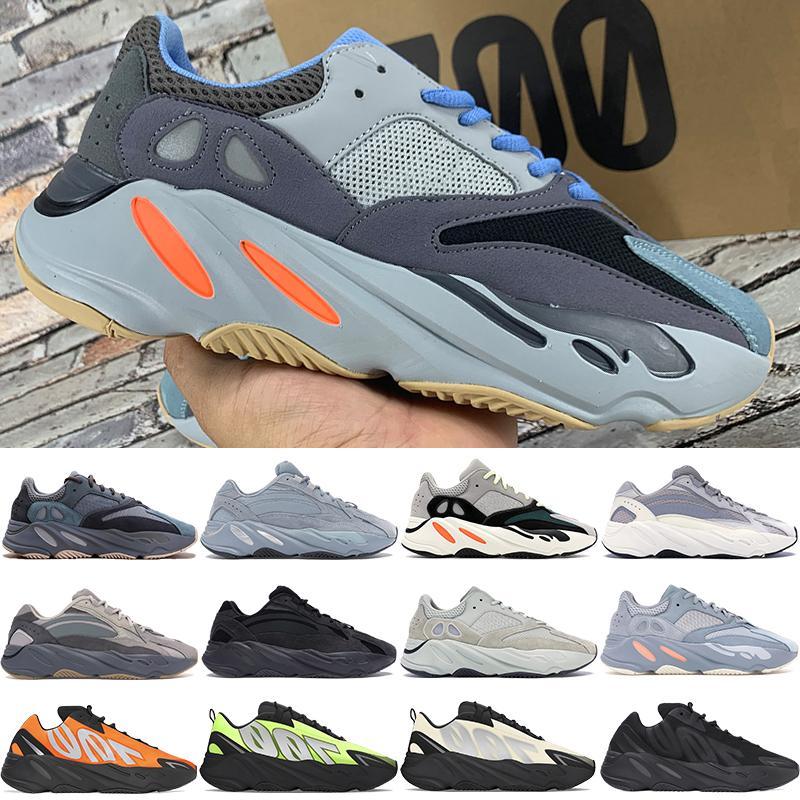 جديد أفضل 700 V1 V2 MNVN كاني ويست الاحذية الكربون الأزرق التعادل صبغ OG الصلبة رمادي برتقالي رجل عاكس حذاء إمرأة المدربين