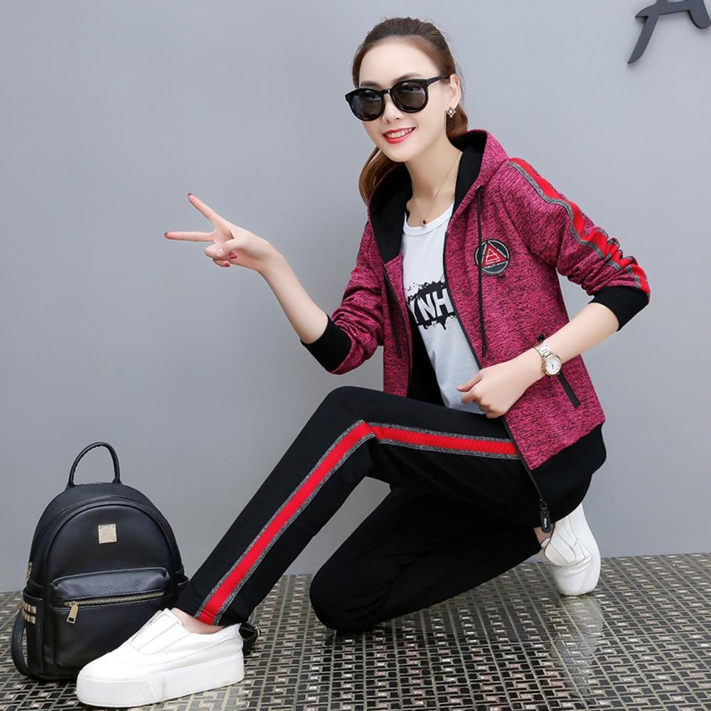 HTHU5 HX2838-5612020 Herbst der neuen koreanischen Stil, Mode, Freizeitsport dreiteilige Set für Herbst Anzug neuen Anzug Frauen
