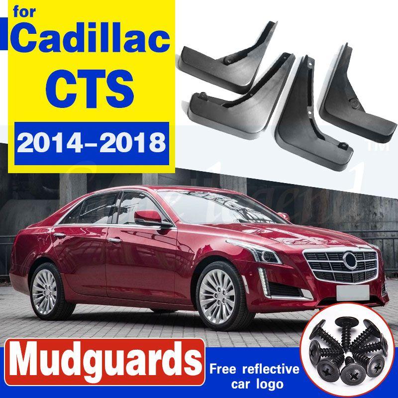 4pcs / set Auto-Front hinten Schmutzfängern für Cadillac CTS 2014-2018 Mudflaps Spritzschutz Schmutzfänger Kotflügel Fender 2015 2016 2017