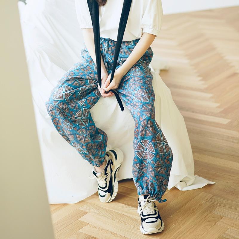 Two wear wide-leg pants, high waist and thin summer mopping trousers, loose vertical straight pants Collapsible feet