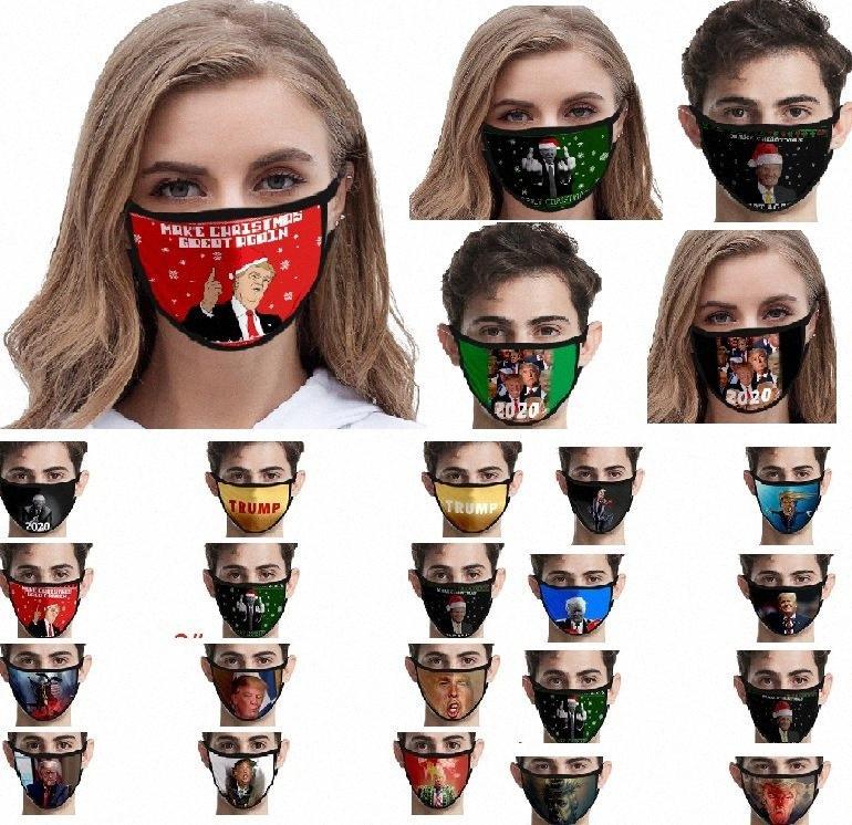Yüz Maskesi Baskı Trump Mouch Yetişkin Kadın Erkek Yıkanabilir toz geçirmez Karikatür Koruyucu 39 stilleri Maskesi HH9-3045 dVQ0 #