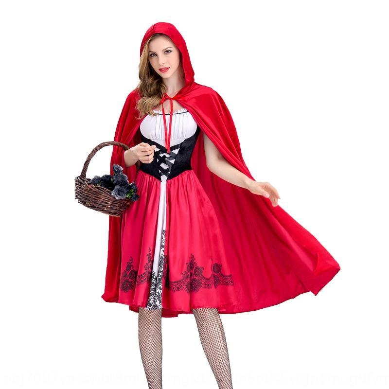 discoteca de Halloween de Caperucita ropa de adultos interino Little Red Hat las mujeres de la ropa de la reina de juego de rol traje traje C