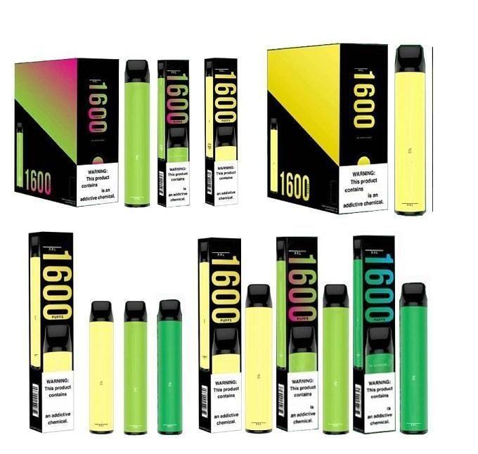 PUFF XXL 1600 퍼프 일회용 장치 Vape 펜 미리 채워진 증기 전자 담배 휴대용 시스템 스타터 키트 Vaporizersapor 조회수