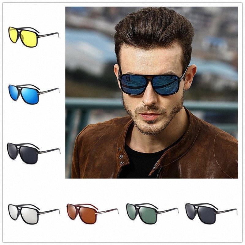 2020 2020 Summer Fashion Homens Esporte Proteção Espelho óculos polarizados Piloto clássico dos óculos de sol UV Outdoor retro Eyewea n37P #