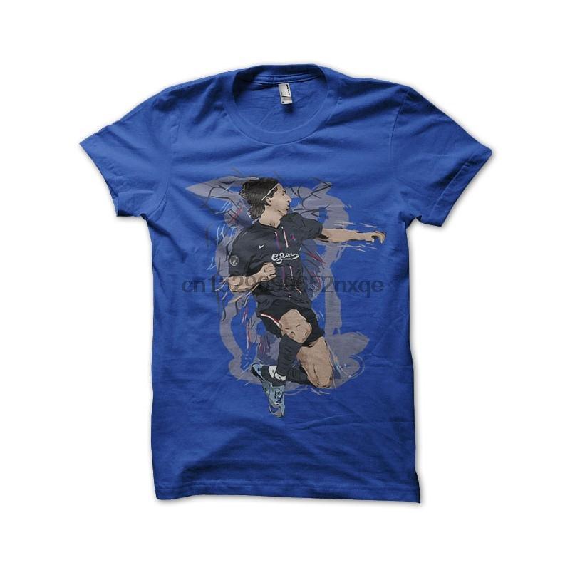 Erkekler Tişörtlü Zlatan Ibrahimovic Gömlek Artistik Mavi Tshirts Kadınlar Tişört