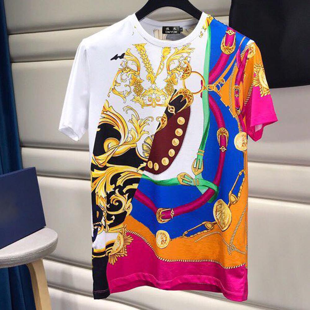 Barocco Acanthus Imprimir T-shirt Homens Designer Camisetas Engraçado t - shirts Slim Fit Unisex T-shirt Melhores versões