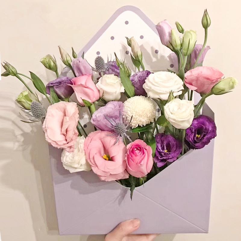 Blume Kreative Falten-Verpackung Umschlag 4pcs Box 20x7x14.5cm Dekoration Geschenk Karton Wrapping Home Blumen sweet07 raxgd