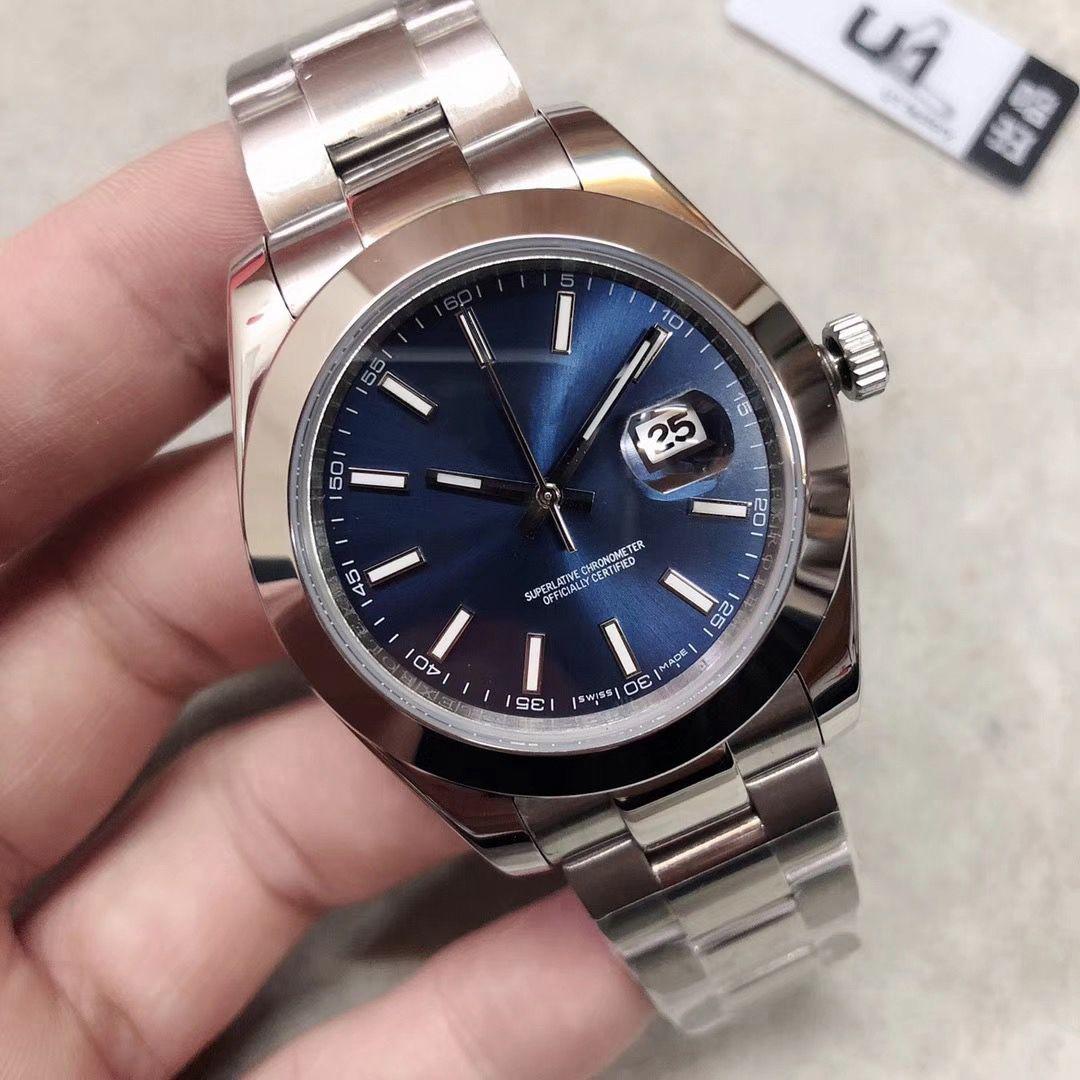 U1 Fabrikası 126.300 41mm Datejust Erkekler Saatler Mekanik Otomatik İzle Reloj İş Moda çelik toka Paslanmaz Çelik watch01 mens