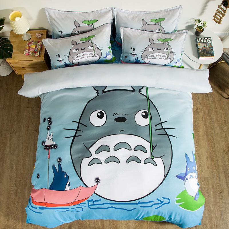 2020 Fashion Bedding Sets Cartoon Printed Duvet Cover Pillow Cover Queen King Size Cute Bed Sheet Pillowcases Quilt Cover