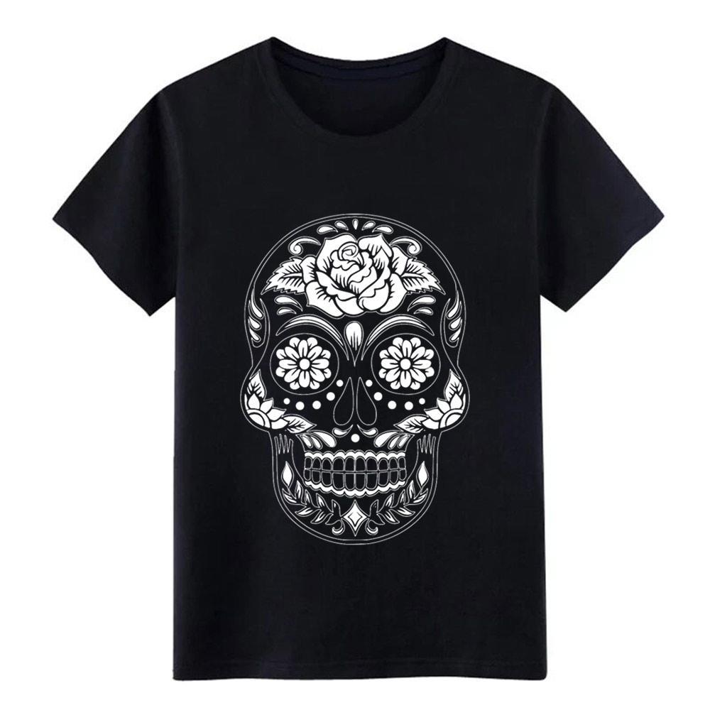 fleur crâne t shirt homme impression 100% coton S-XXXL Cadeau normal été décontracté chemise naturelle