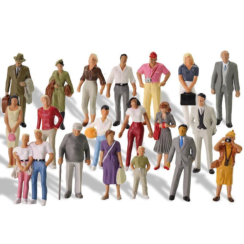 20pcs todos de pé 1:43 pintados Figuras O Scale Pessoas Cenário Modelismo Ferroviário