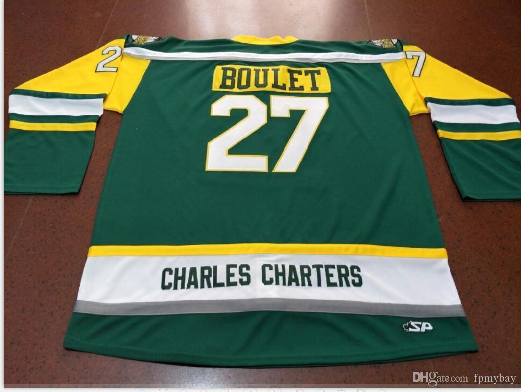 Benutzerdefinierte Männer Jugend Frauen Vintage-CHARLES CHARTERS # 27 Logan Boulet Humboldt Broncos Hockey-Jersey-Größe S-5XL oder benutzerdefinierten beliebigen Namen oder Nummer