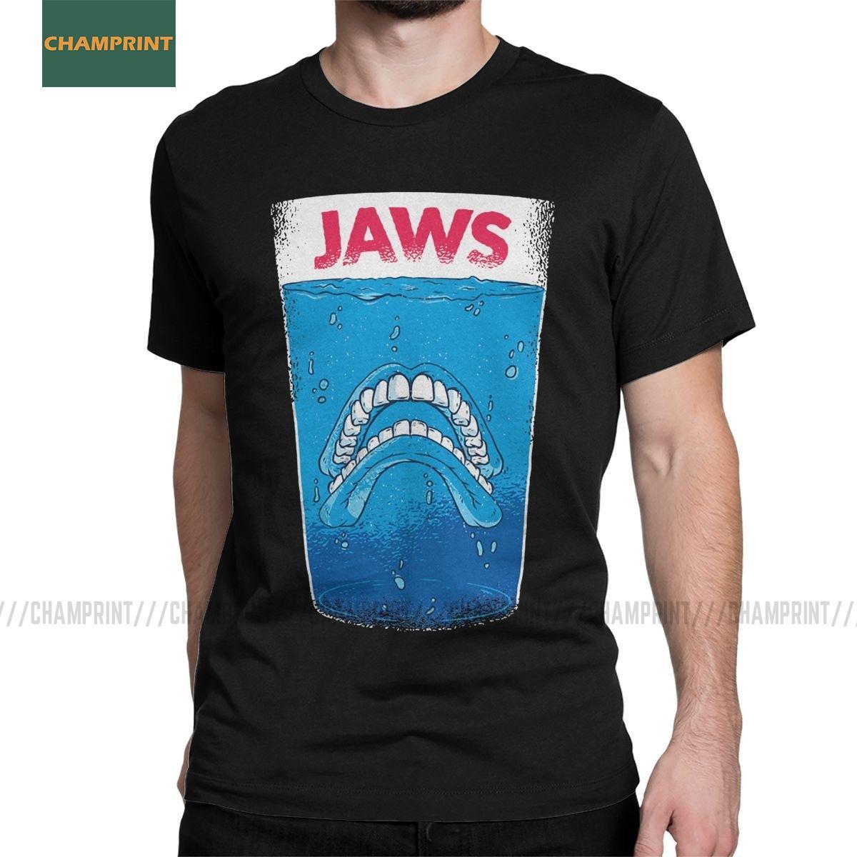 T-shirt do tamanho roupas de algodão de manga curta Tees Além disso, os homens Jaws Dentaduras dentista camiseta Dentistry higienista dental dos dentes do dente