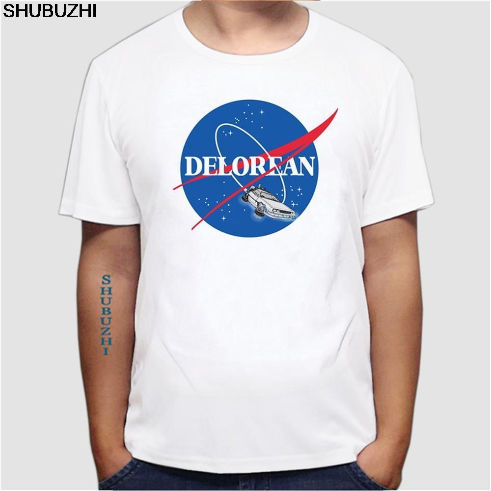 t-shirt de meilleurs hommes dos à l'avenir DeLorean hommes tshirt brun McFly été T-shirt marty de loisirs pour les hommes Taille euro
