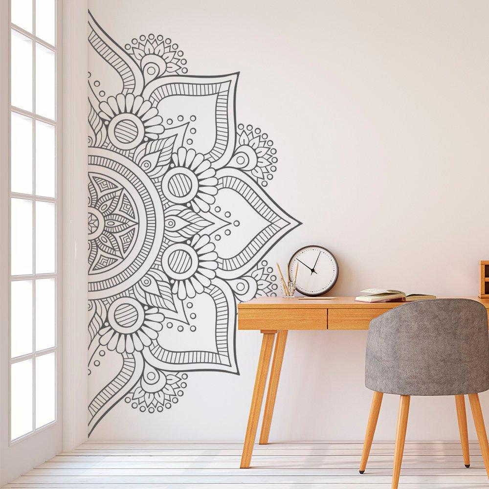 Half Mandala Wall Decal Sticker for Bedroom Modern Design Pattern Vinyl Art Self Adhesive Wall Stickers Home Room Decor D264 T200601