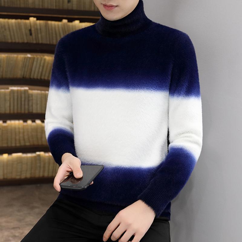 2020 nuovo dolcevita cachemire degli uomini superiori Inverno Pullover Uomini Tenere Tirare caldo HOMME Moda Uomo di Natale Maglioni