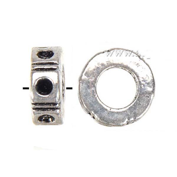 Resultados de la joyería europeos de los granos encantos pulseras de DIY puede establecer cristalino de plata grande del agujero de la vendimia metal redondo ventas al por mayor Nuevos 9 * 3m m 200pcs