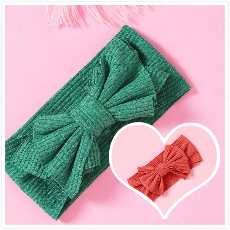 Cute Stretchy Hair Accessories Knitted Bow Headbands For Girls Fashion Elastic Soft Hairbands Wide Turban Headwear For Baby Girl Littl lcEa#