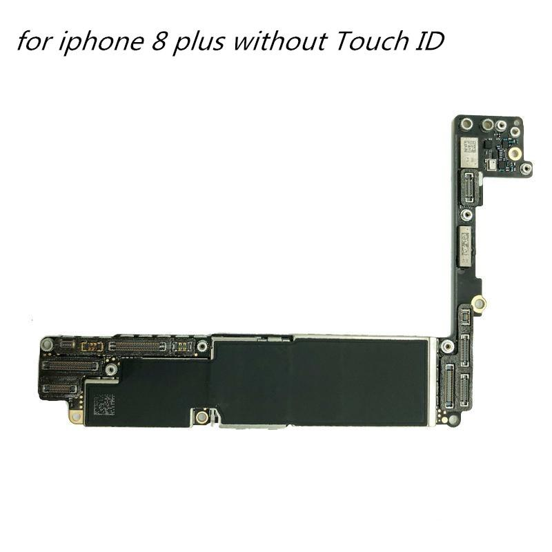 Motherboards telefone móvel para iPhone 8 mais sem Touch ID Desbloqueado Mainboard para iPhone 8 mais 1pcs Logic Board