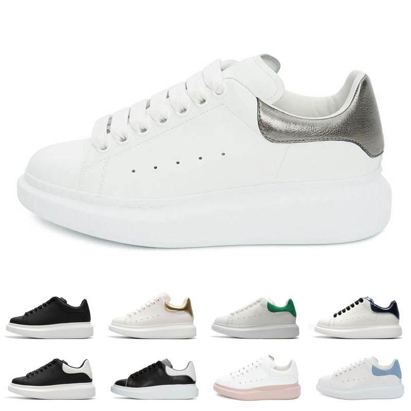 kadınlar erkekler için moda platform ayakkabı siyah pembe üçlü beyaz yeşil süet deri mens kırmızı indirimli eğitmenler gündelik ayakkabı koşu yürüyüş