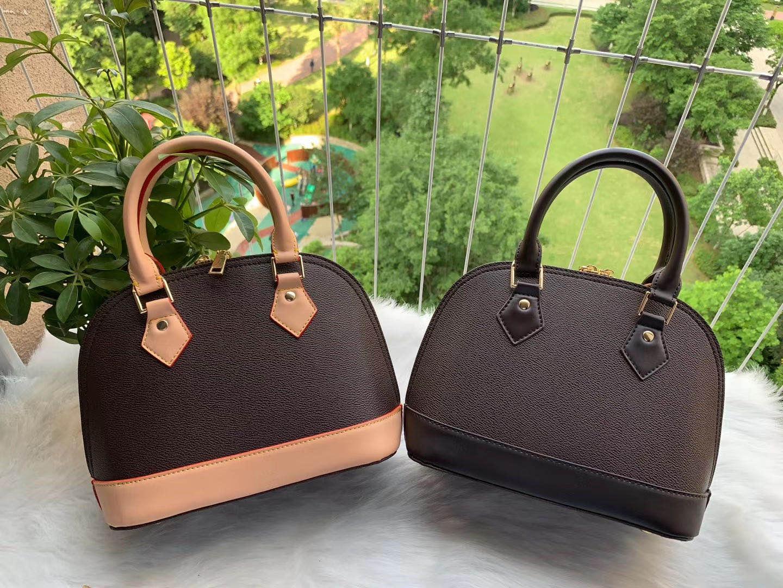 Marke Alma Flower Shoulder Classic Tote Messenger Cross Bag Leder Qualität Designer Tasche Geprüft Frauen Damier Ahelp
