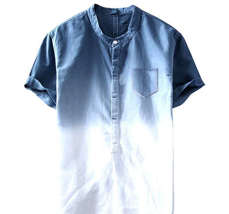 Shirts Linha tingido laço t Summer Fashion Bolsos Designer Casual Praia Hombres Tees Mens1436