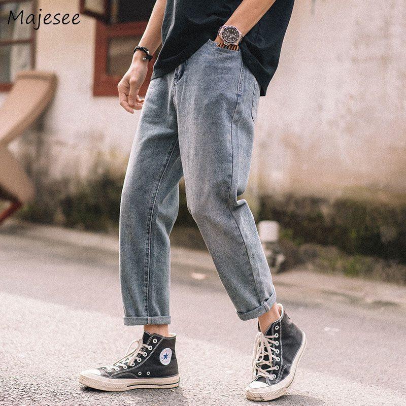 Hombres Jeans Denim Primavera Retro largo pantalones Harem flojo Jean Boy diario del vaquero fresco ancha elegante Nueva Todo-fósforo Moda masculina diaria suave