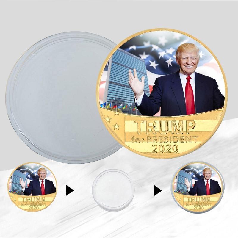 Gold Collection Crafts Trump Speech comemorativa América Presidente Trump Mantenha América Grandes Moedas DHC494