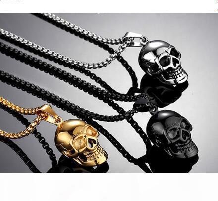 de homens de aço inoxidável 316L esqueleto pingente de titânio banhado a ouro jóias Crânio Pendant clássico mexicanos do açúcar Esqueleto Pendant